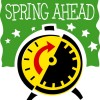 Spring ahead graphic